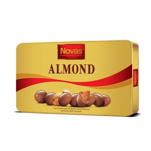 Sôcôla Novas-Almond Milk 180g Chocolate Almond Hộp thiếc 180 g