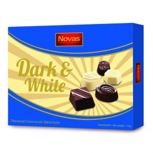 Dark and White Chocolate Hộp 110 g Dark and White Chocolate Hộp 110 g