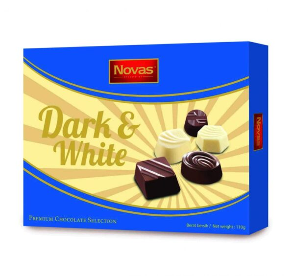 Dark and White Chocolate Hộp 110 g Dark and White Chocolate Hộp 110 g