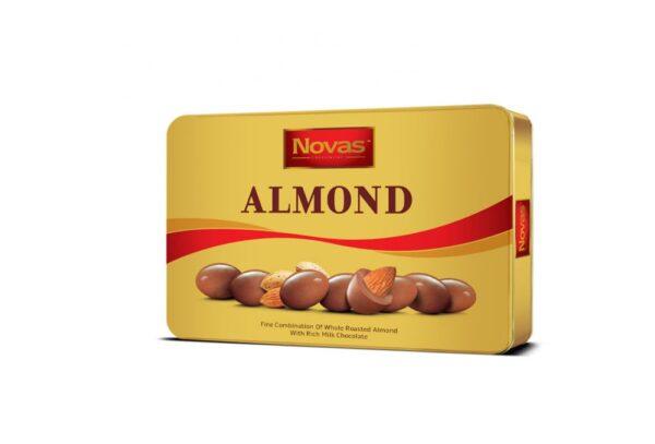 Chocolate Almond Hộp thiếc 300 g Chocolate Almond Hộp thiếc 300 g