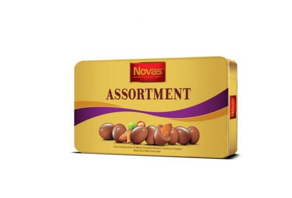 Chocolate Assortment hộp thiếc 180 g Chocolate Assortment Hộp thiếc 180 g